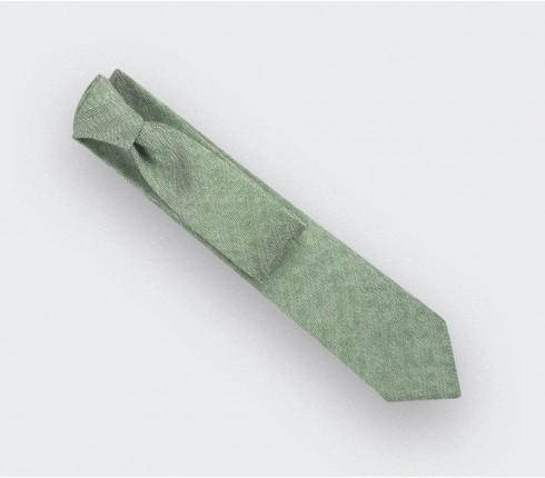 Cravate Chevron Vert Clair - CINABRE Paris
