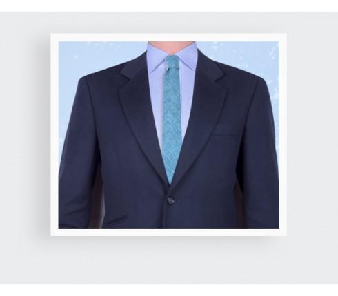 Turquoise Linen tie - Handmade in France - Cinabre Paris