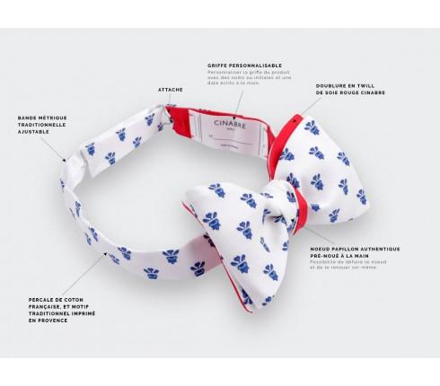 Noeud Papillon Mistral Blanc - Fait main par Cinabre Paris