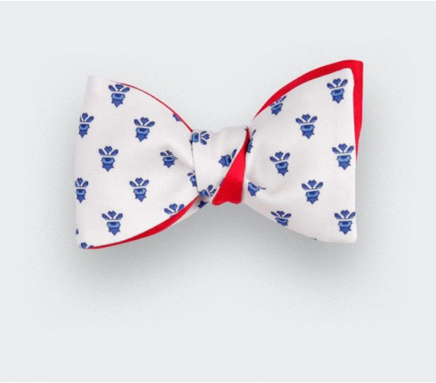 White Mistral Bow Tie - Handmade by Cinabre Paris