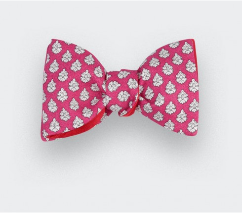 Pink Provence Bow Tie - Handmade by Cinabre Paris