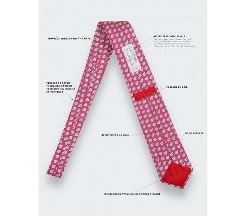 Pink Provence Tie  - Handmade by Cinabre Paris
