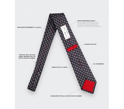 Anthracite Grand Pan Tie - Cinabre Paris