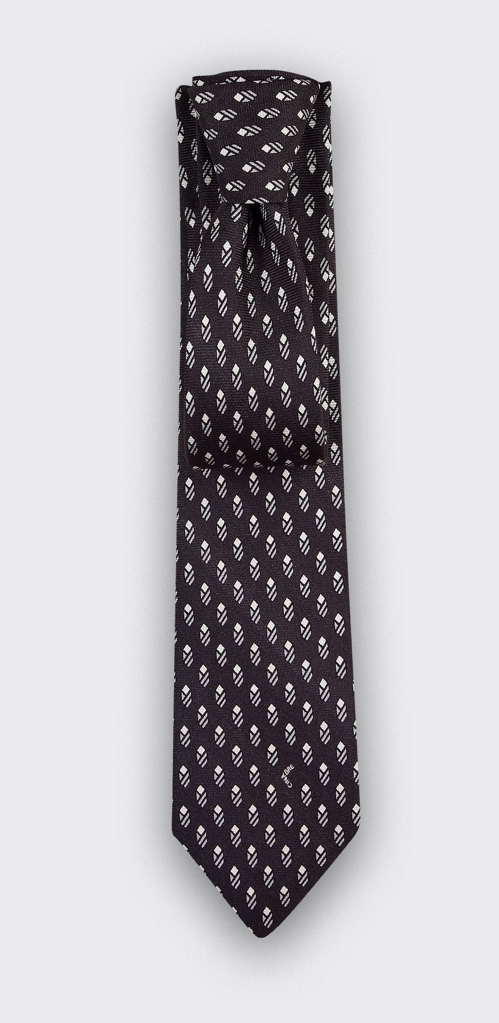 Cravate Grand Pan Anthracite - Cinabre Paris