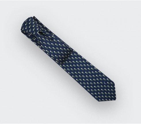 Cravate Grand Pan Marine Gris - Cinabre Paris