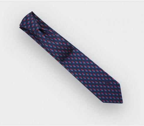 Cravate Grand Pan Marine Bleu - Cinabre Paris