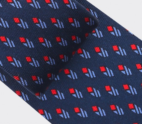 Navy Blue Grand Pan Tie - Cinabre Paris