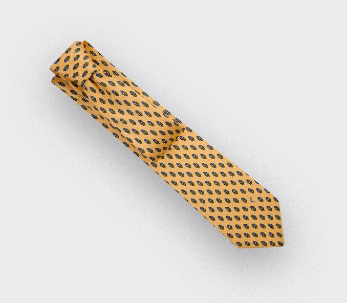 Cravate Grand Pan Jaune - Cinabre Paris