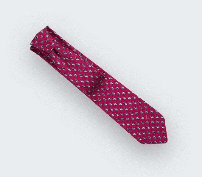 Fuchsia Grand Pan Tie - Cinabre Paris