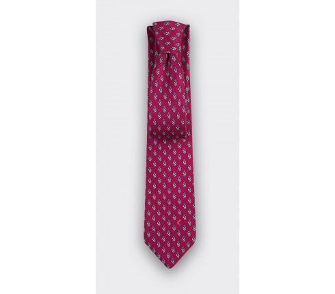 Cravate Grand Pan Fuchsia - Cinabre Paris
