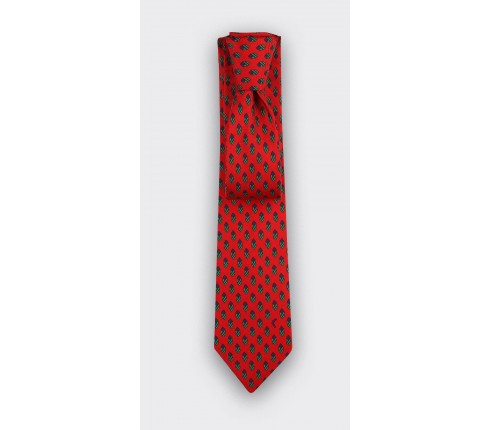 Red Grand Pan Tie - Cinabre Paris