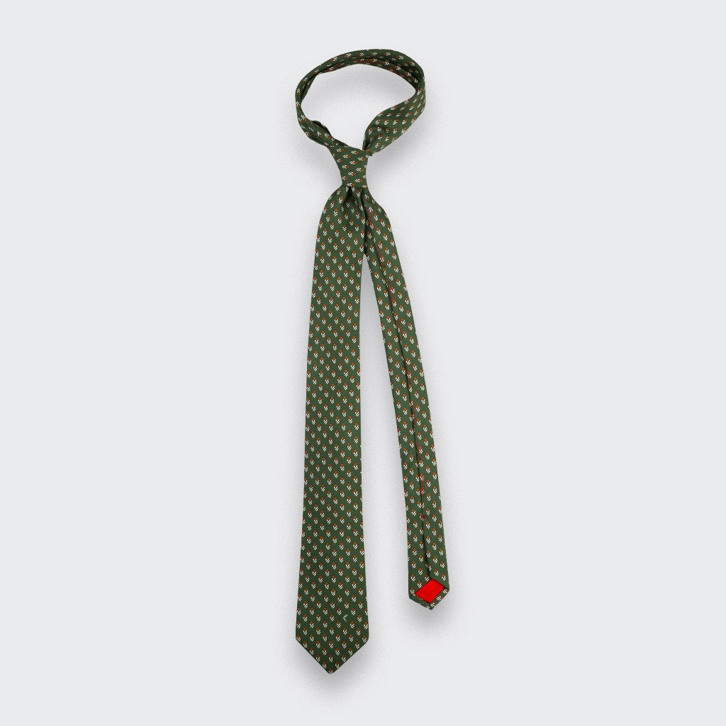 Khaki Grand Pan Tie - Cinabre Paris