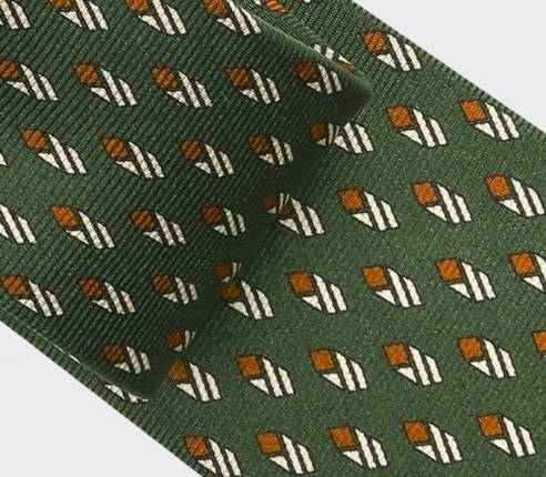 Khaki Grand Pan Tie - Cinabre Paris