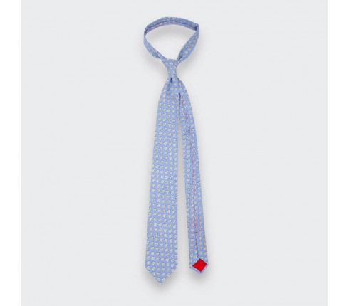 Light Blue Provence Tie - Handmade by Cinabre Paris
