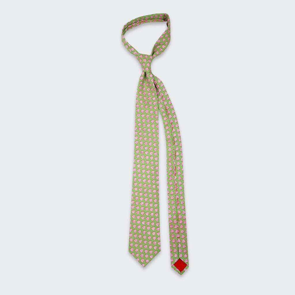Green Provence Tie - Handmade by Cinabre Paris