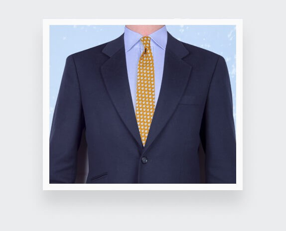 Yellow Provence Tie - Handmade by Cinabre Paris