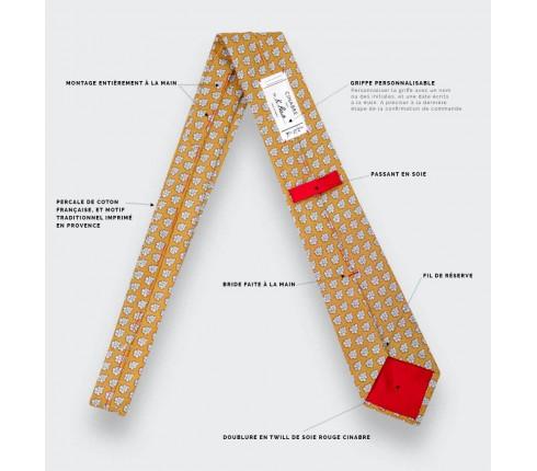 Cravate Provence Jaune - Fait main par Cinabre Paris