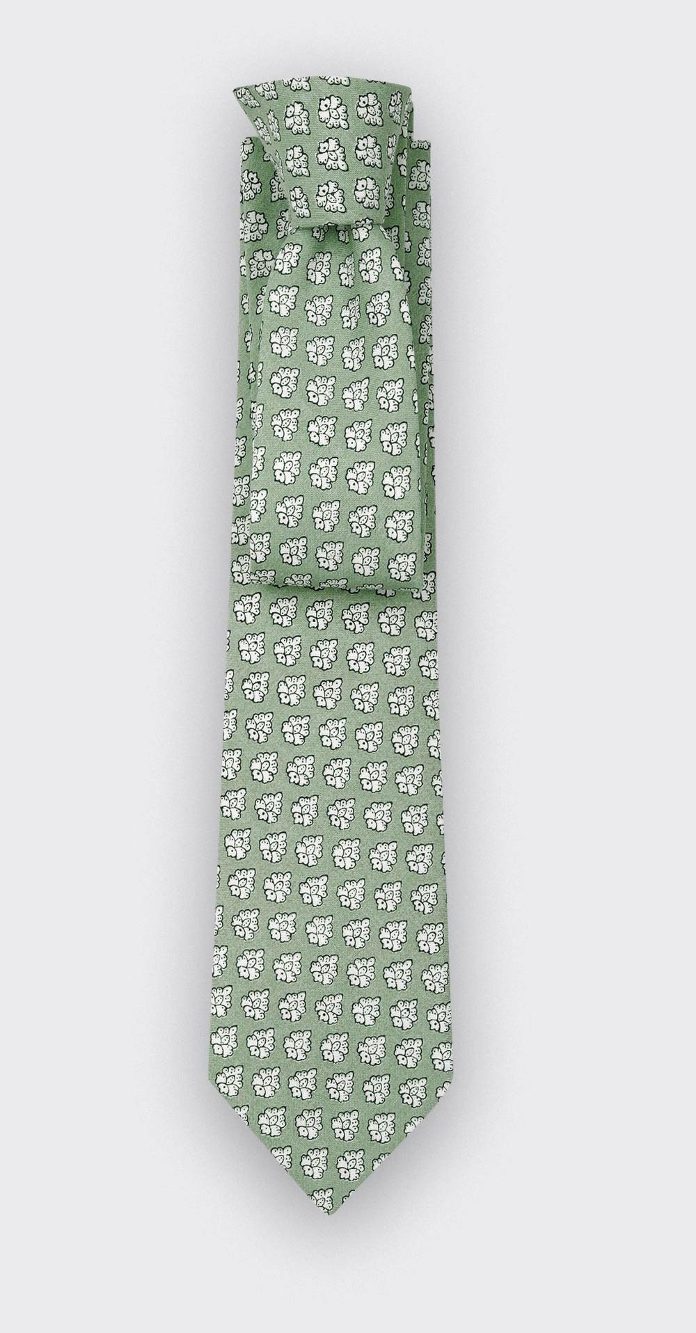 Cravate Provence Vert Amande - fait main par Cinabre Paris
