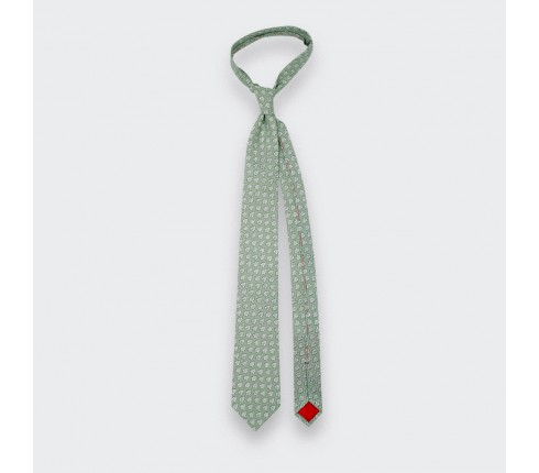Pale Green Provence Tie - handmade by Cinabre Paris