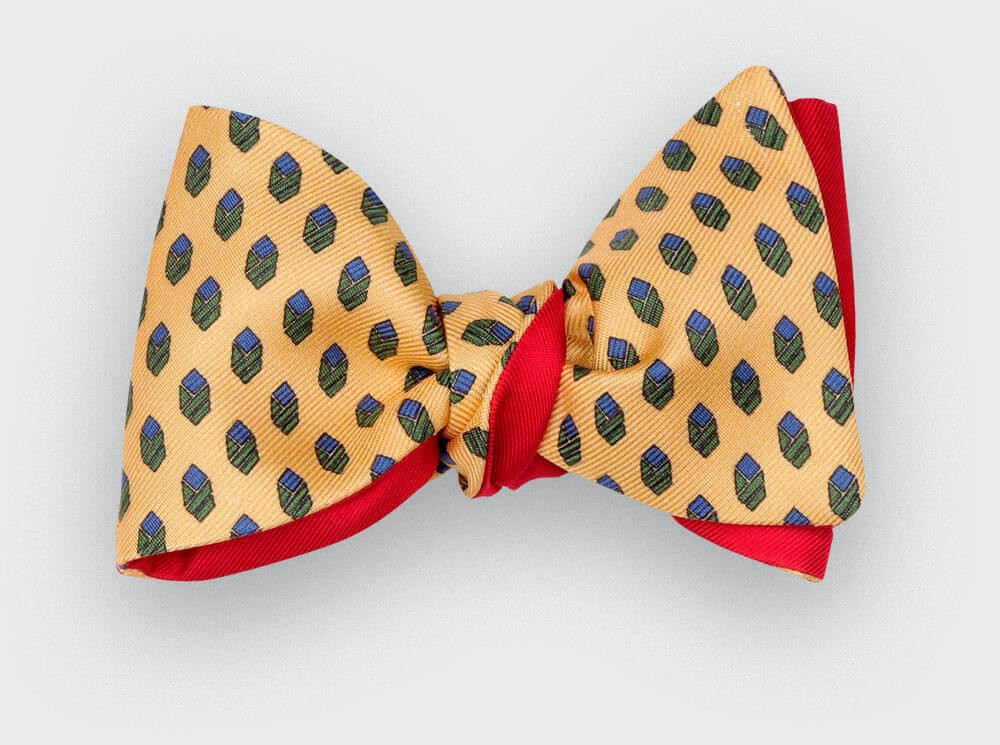 Yellow Grand Pan Bow Tie - handmade by Cinabre Paris