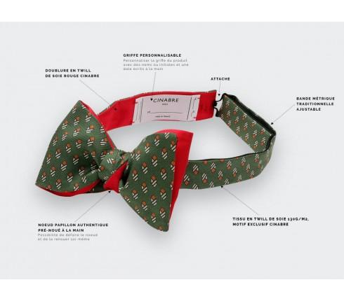 Khaki Grand Pan Bow tie - Handmade by Cinabre Paris