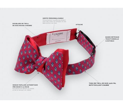 Fuchsia Grand Pan Bow tie - Handmade by Cinabre Paris