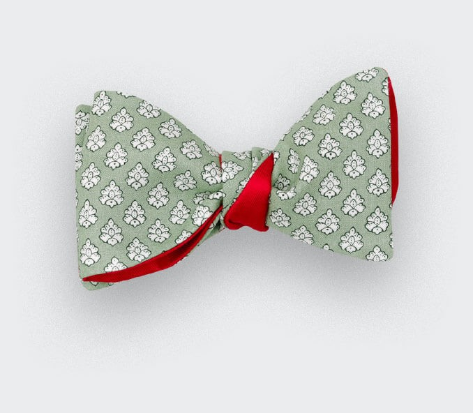 Pale Green Provence Bow Tie - Handmade by Cinabre Paris