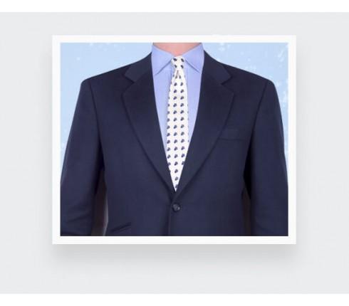 Cravate Mistral Blanc - Fait main par Cinabre Paris