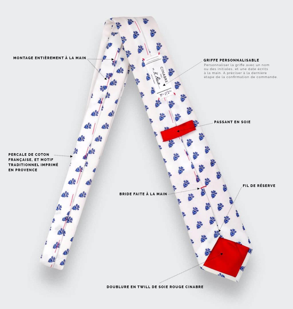 White Mistral Tie - Handmade by Cinabre Paris