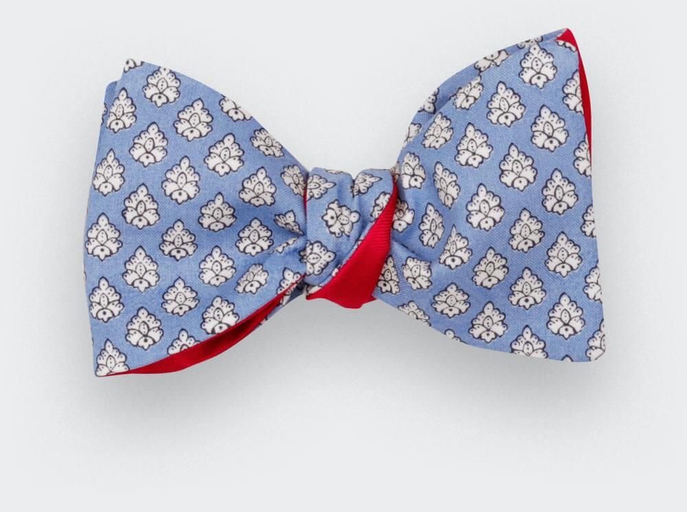 Noeud Papillon Provence Bleu Ciel - Fait main par Cinabre Paris