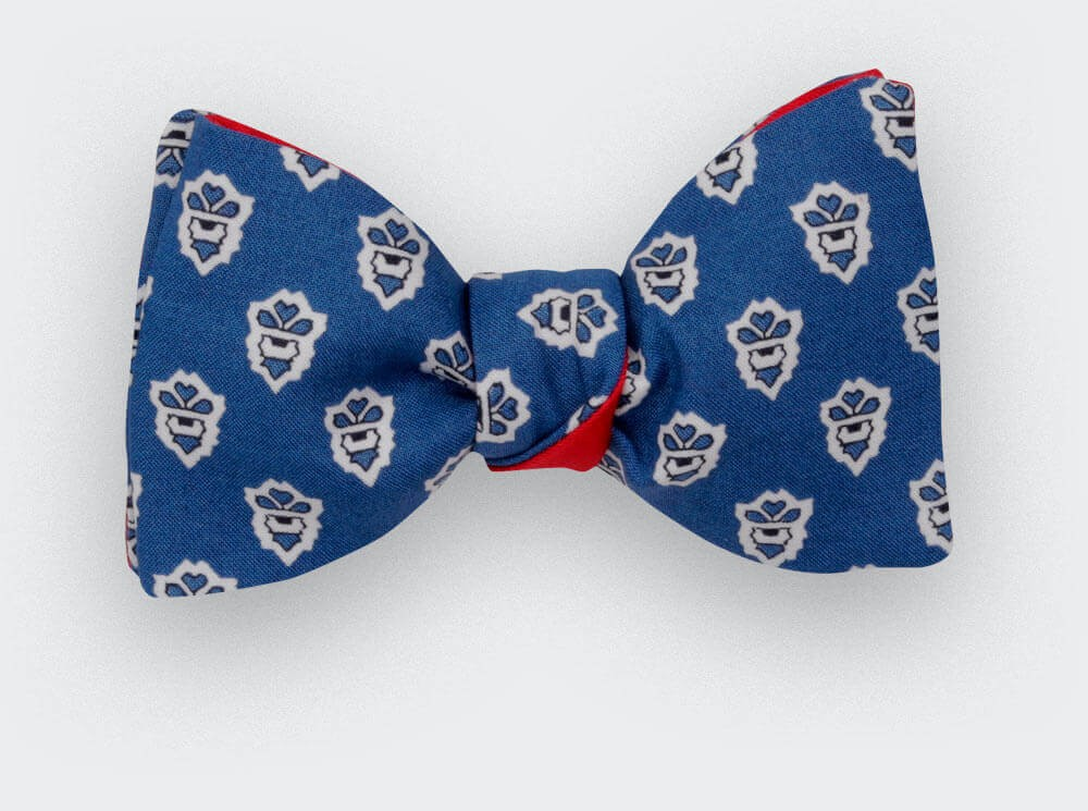 Blue Mistral Bow Tie - Handmade by Cinabre Paris