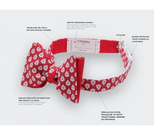 Noeud Papillon Provence Rouge - Fait main par Cinabre Paris