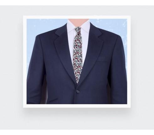 Cravate Fleuri Ecru - Cinabre Paris
