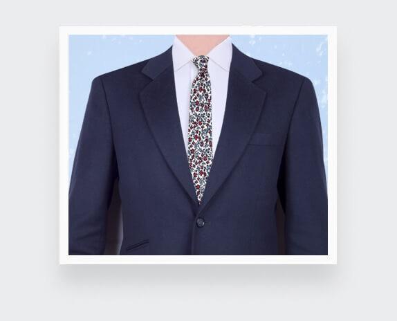 Ecru Flower Tie - Handmade in France