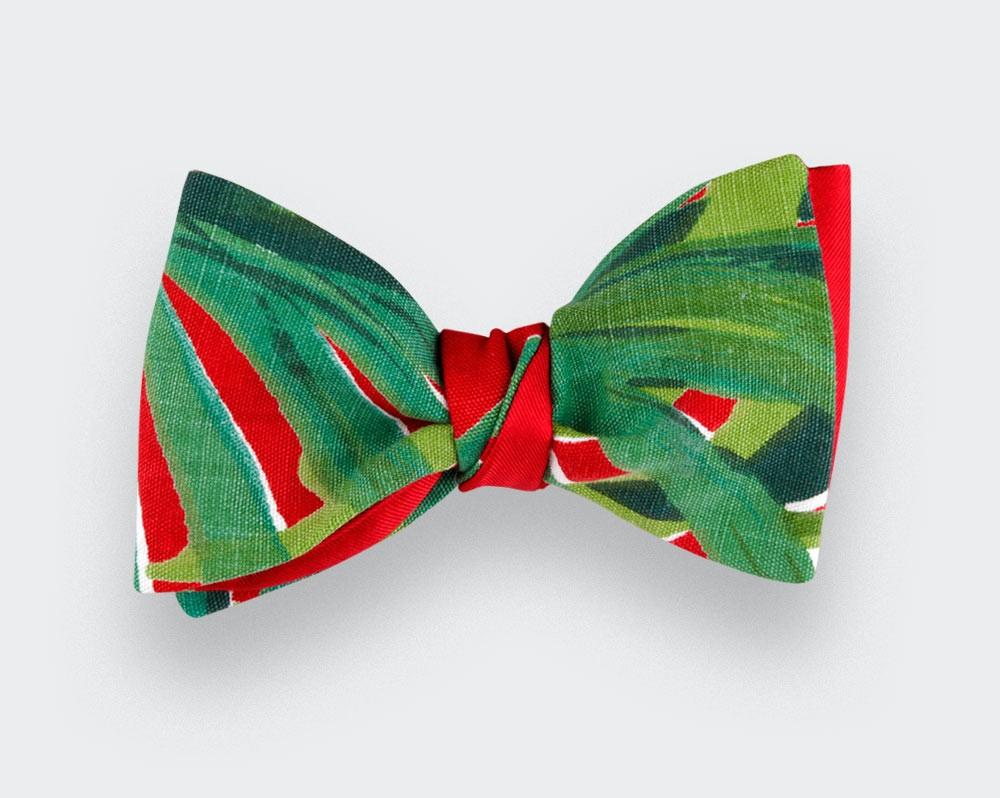 Bow Tie Jungle - Handmade in France - Cinabre Paris