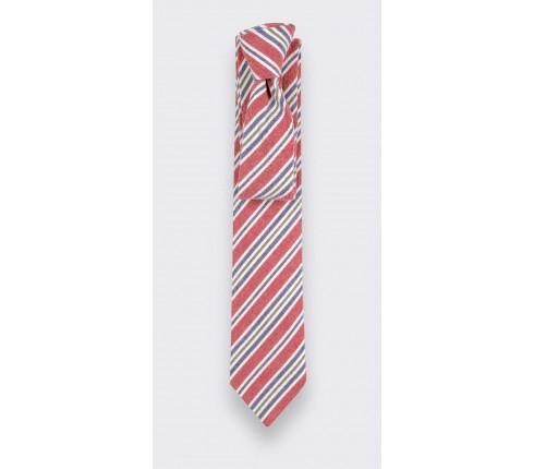 red cape cod tie - cotton et silk - cinabre paris