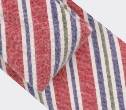 red cape cod tie - cotton et silk - cinabre paris
