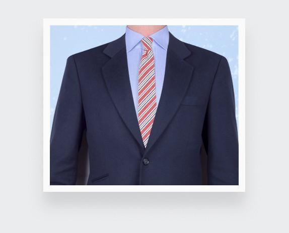 cravate cape cod rouge - coton et soie - cinabre paris