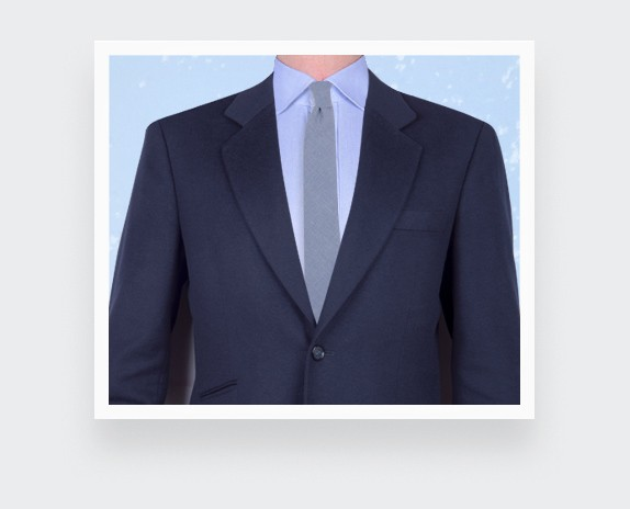 blue tie - cotton and silk - made in France - CINABRE Paris