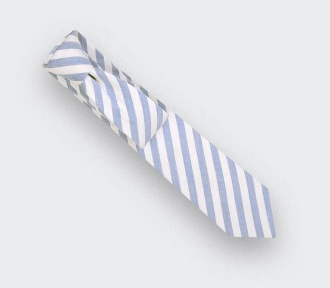 light blue tie - cotton, linen and silk - cinabre paris