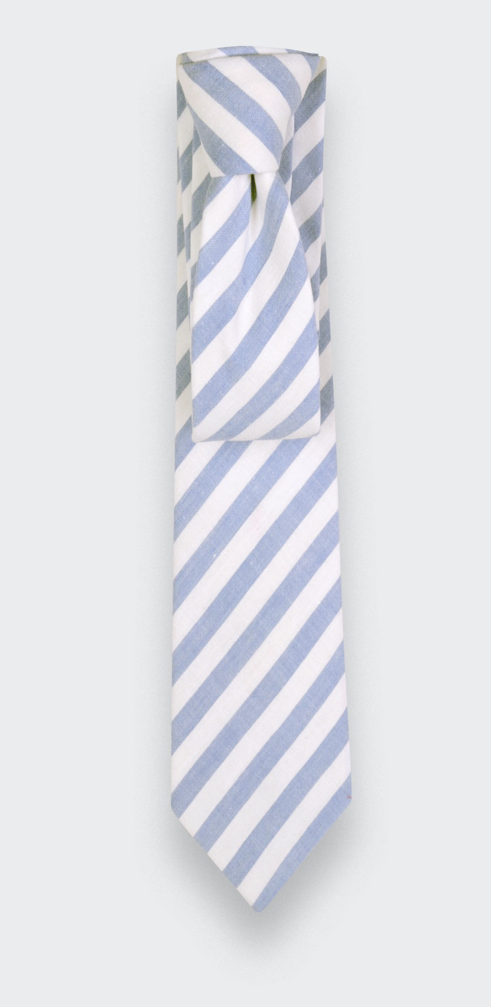 light blue tie - cotton, linen and silk - cinabre paris
