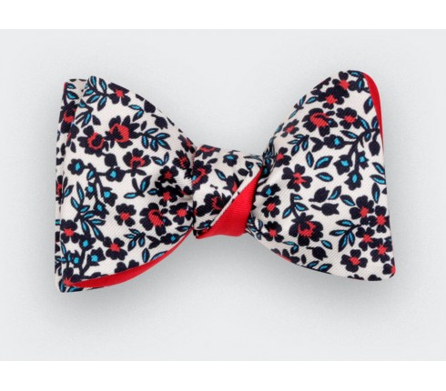 Zoom Cinabre Flowers Bow Tie