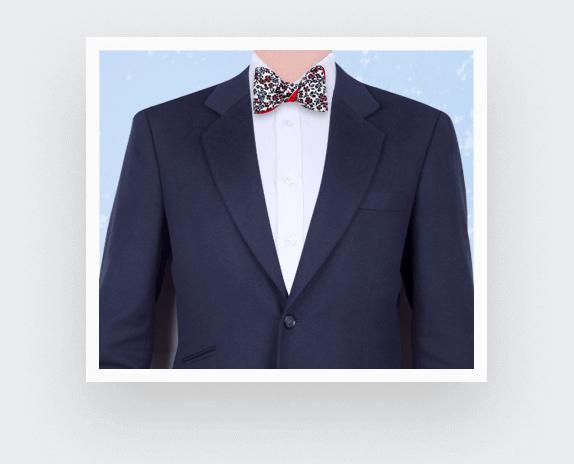 Ecru Flower Bow Tie - Cinabre Paris
