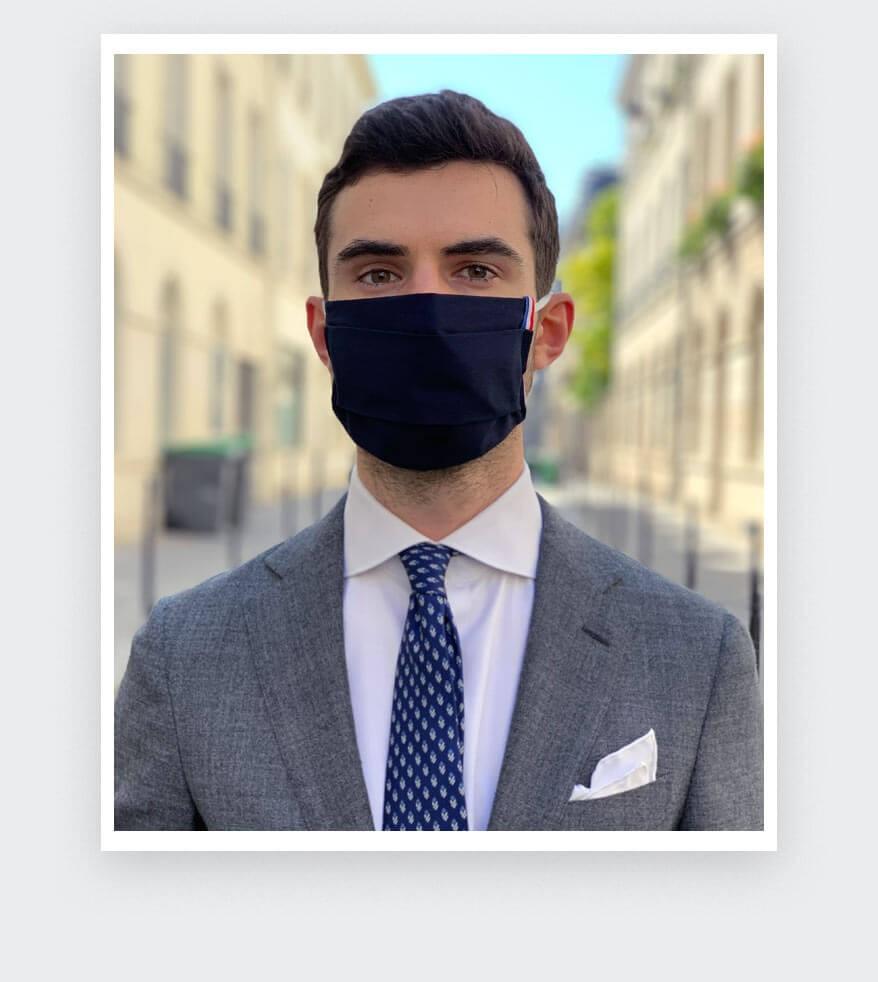 Masque catégorie 1 Bleu Marine Cinabre
