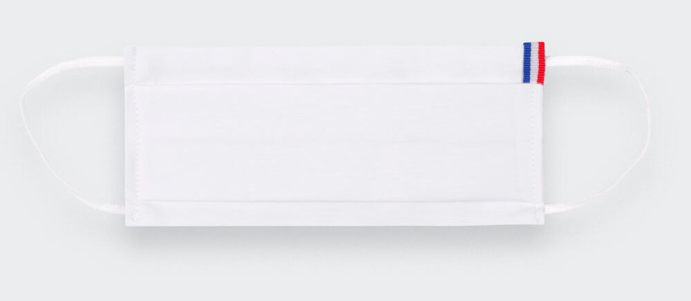 Masque Catégorie 1 Blanc Tricolore Cinabre