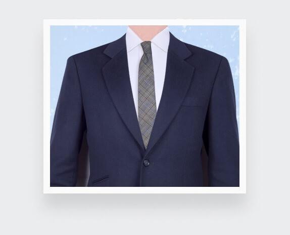 Cravate Prince de Galles Rayé Bleu - Cinabre Paris - Fait main en France