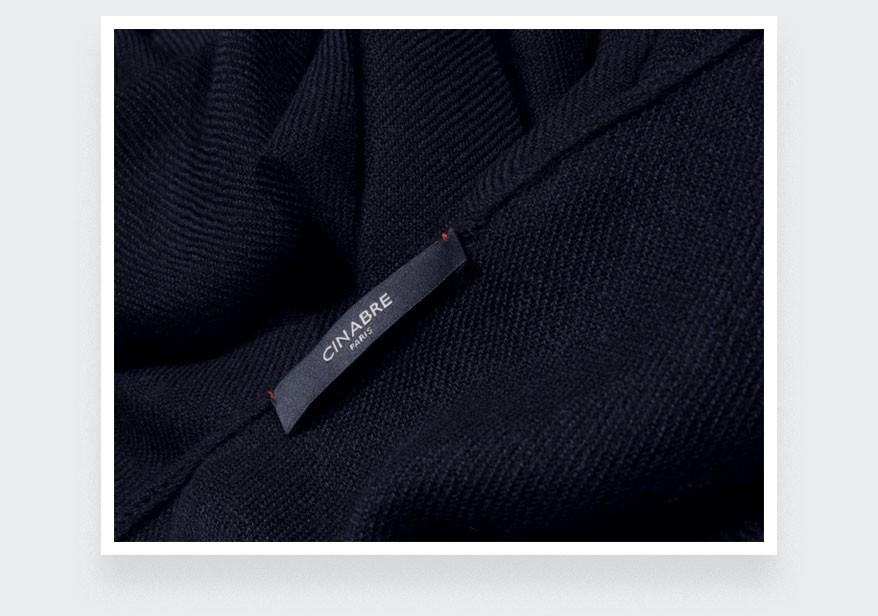 Navy blue cashmere scarf - Cinabre Paris -