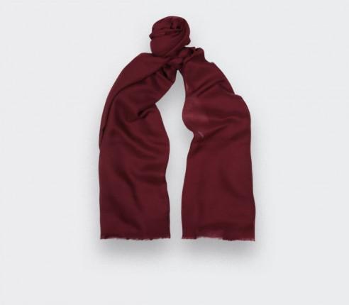 Burgundy cashmere scarf - Cinabre Paris -