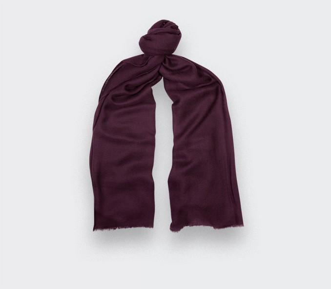 Purple cashmere scarf - Cinabre Paris -