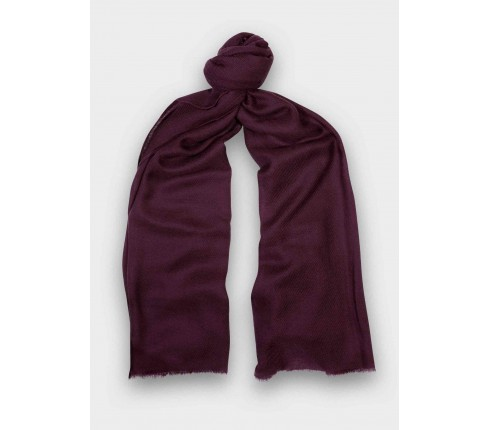 Purple cashmere scarf - Cinabre Paris -